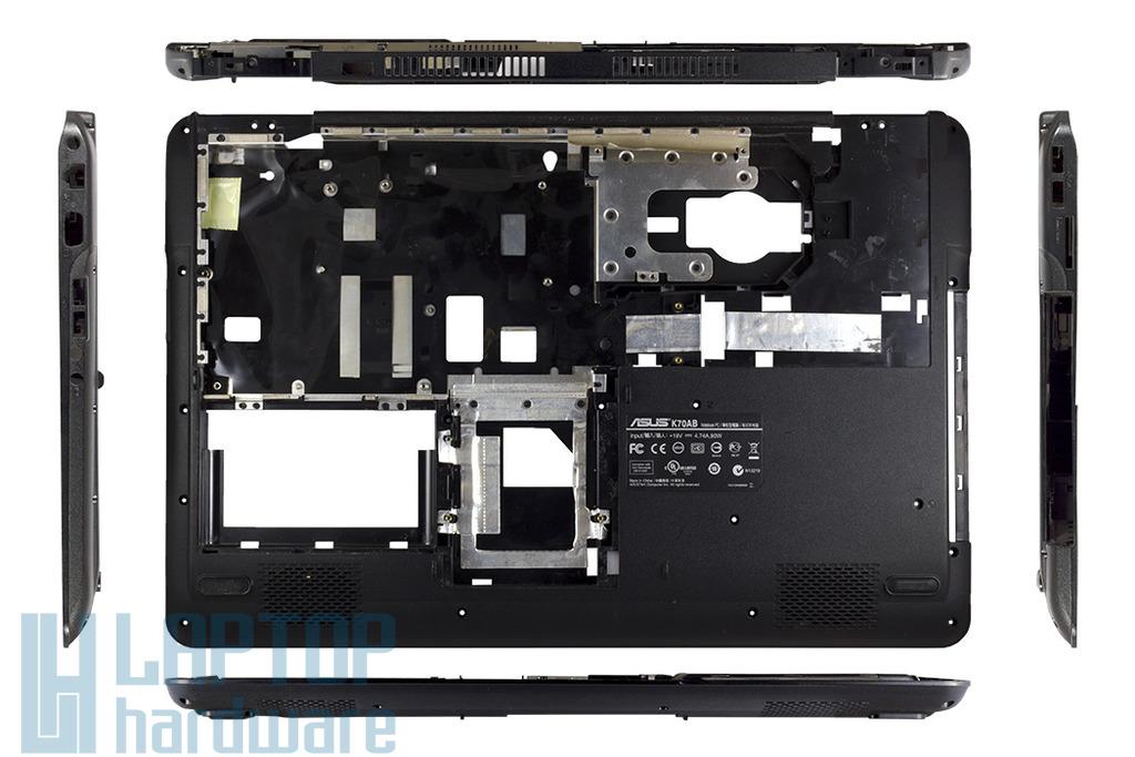 Asus K70AB, K70AC laptophoz használt alsó fedél, sztereó hangszoróval, 13GNVQ1AP041-1A