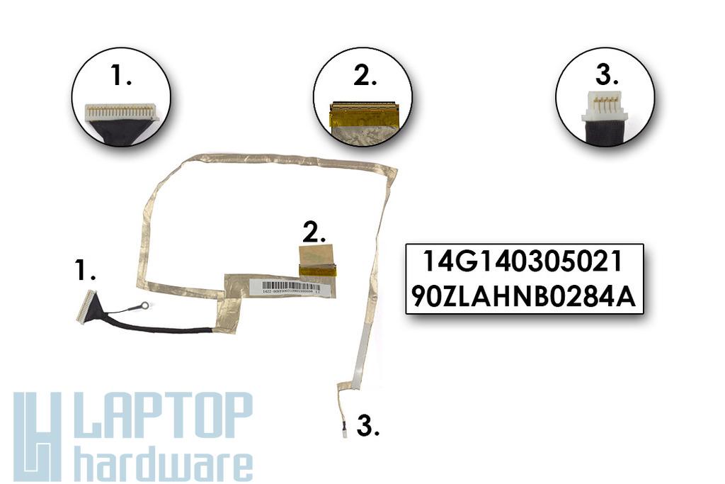 Asus K72F, K72JR laptophoz gyári új LED LCD kábel, 14G140305021