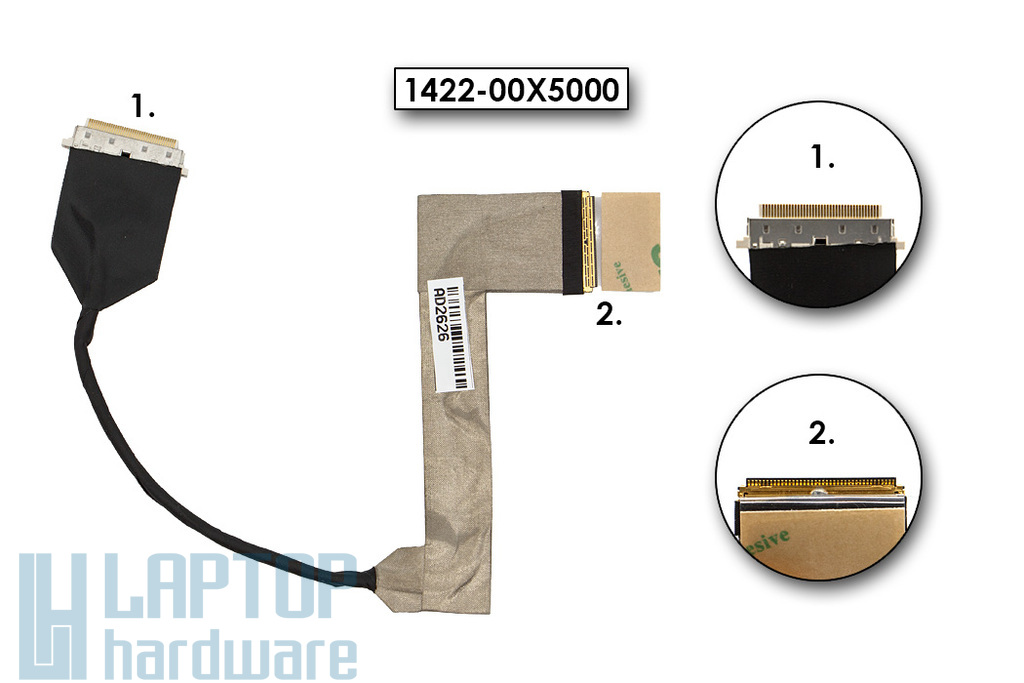 Asus K73E (X73E), K73S gyári új laptop LCD kábel (14G221037000, 1422-00X5000)