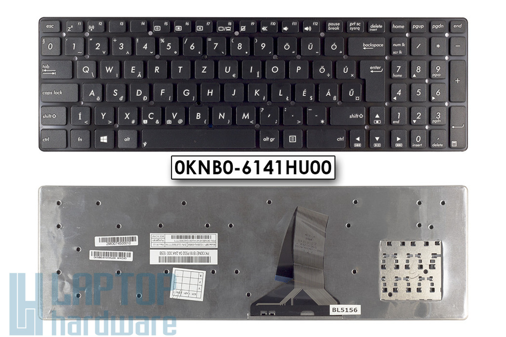 Asus K75VJ gyári új billentyűzet, 0KNB0-6141HU00