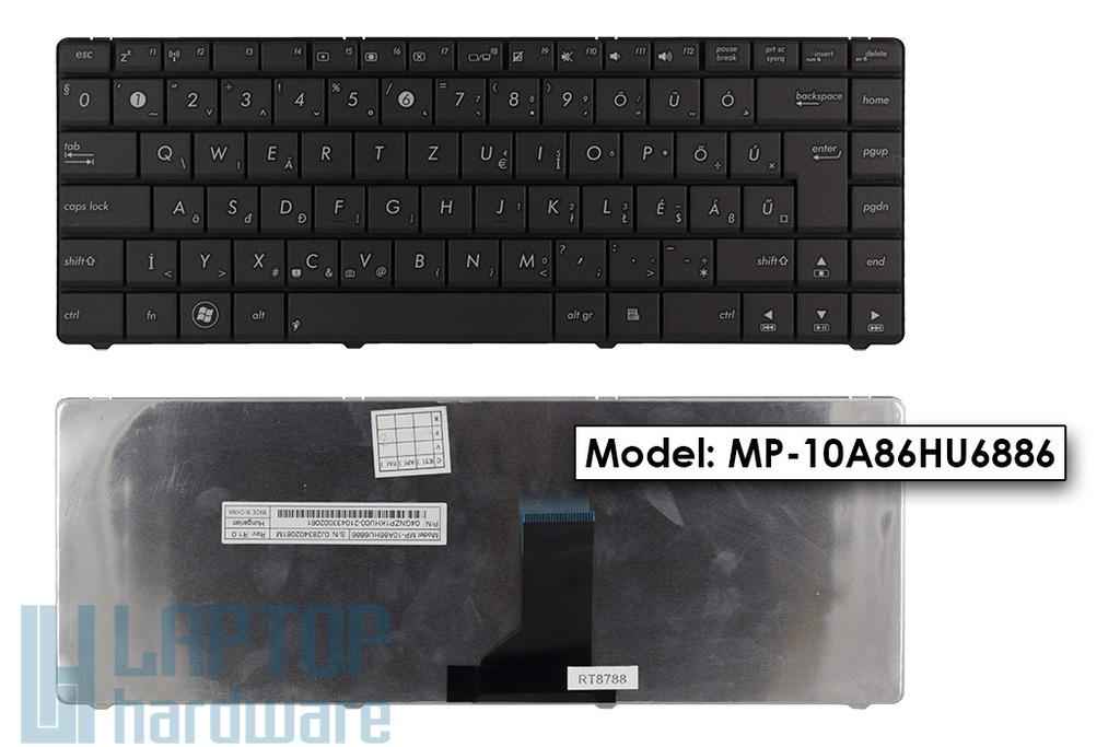 Asus P42JC, N43JF, X45C gyári új magyar szürke Wave laptop billentyűzet (04GNZP1KHU00-2)