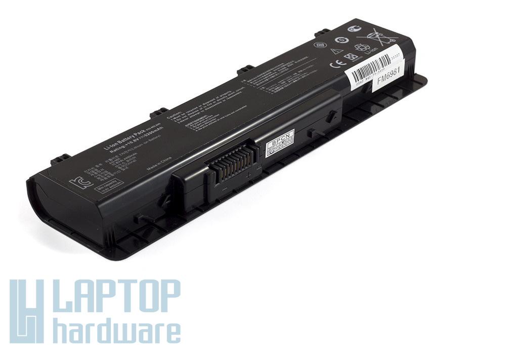 Asus N45, N55, N75 új helyettesítő 6 cellás laptop akku/akkumulátor  A32-N55, A32-N45, 07G016HY1875