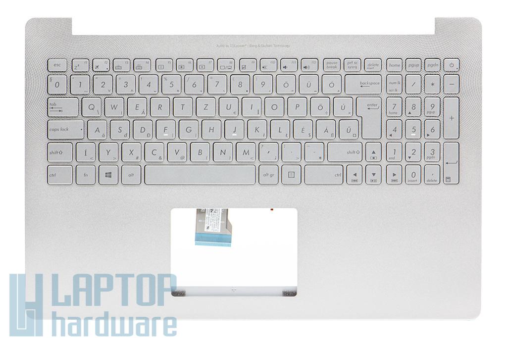 Asus N501JW (UX501JW, G501JW) gyári új háttér-világításos magyar ezüst szürke laptop billentyűzet modul hangszóróval (90NB0871-R32HU0)