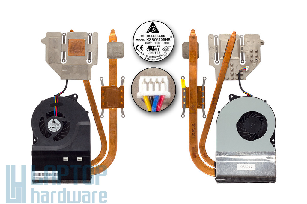 Asus N53JN használt komplett hűtőegység (13GNZT1AM030-1)