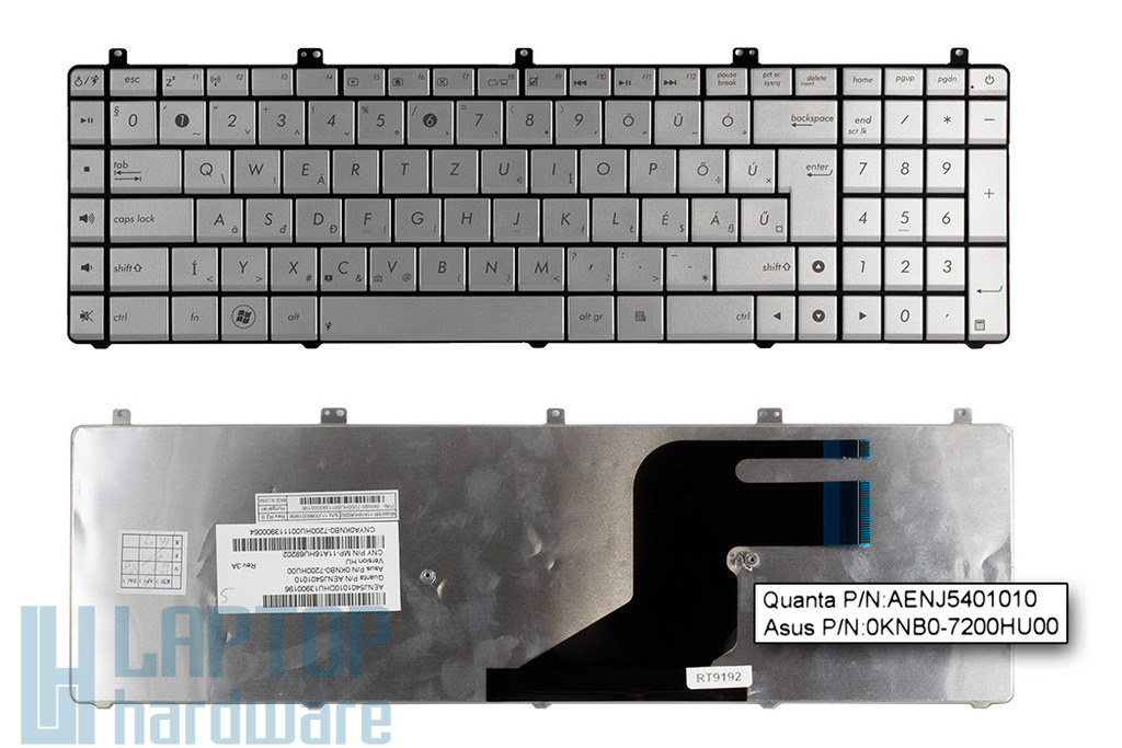 Asus N55, N55SF gyári új magyar laptop billentyűzet (0KNB0-7200HU00)