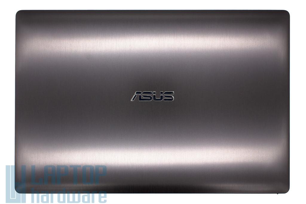 Asus N550JA, N550JX, N550LF (nem érintőkijelzős verzió) gyári új szürke laptop LCD kijelző hátlap zsanérokkal és LCD kábellel (90NB00K1-R7A020)