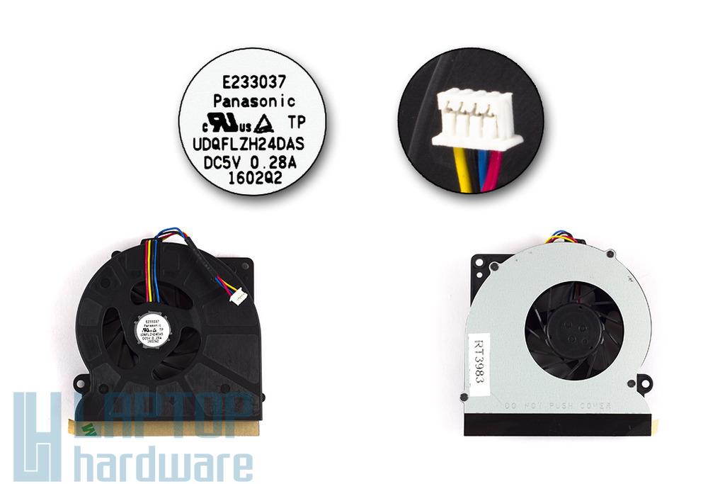 ASUS N61, N61V, N61JV, N61JQ, N61VG használt laptop hűtő ventilátor (UDQFLZH24DAS)