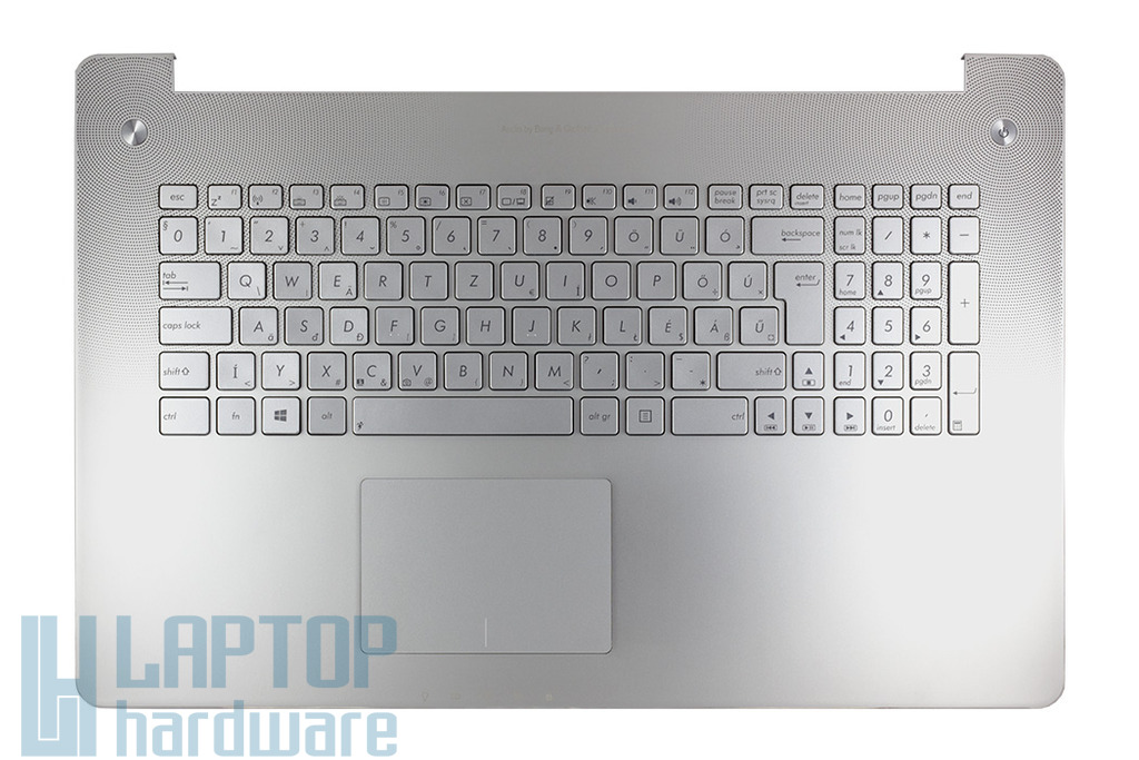 Asus N750JK, N750JV gyári új magyar szürke háttér-világításos laptop billentyűzet modul (90NB0201-R32HU0)