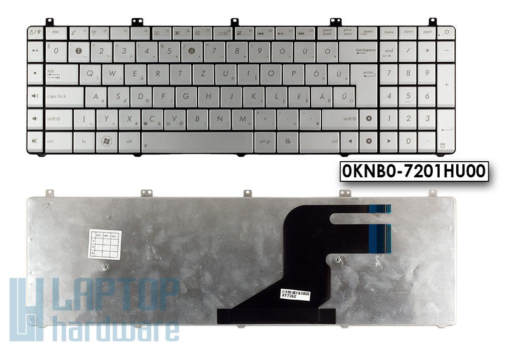 Asus N75SL, N75SF gyári új magyar szürke Wave laptop billentyűzet (0KNB0-7201HU00)
