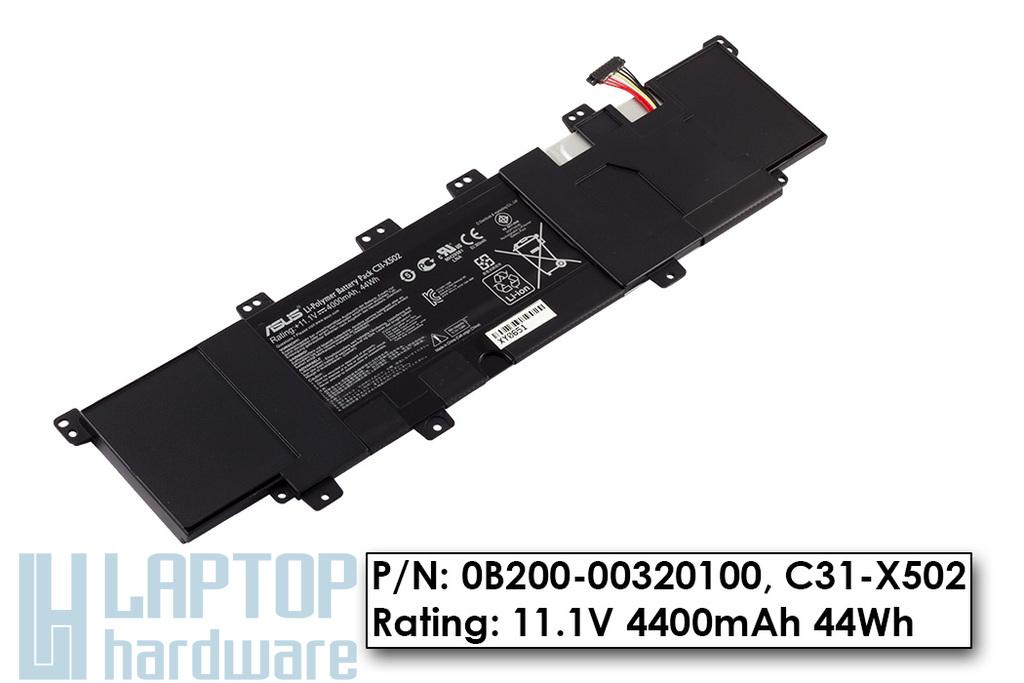 Asus P500CA, VivoBook S500CA gyári új 3 cellás laptop akku/akkumulátor (0B200-00320100, C31-X502)