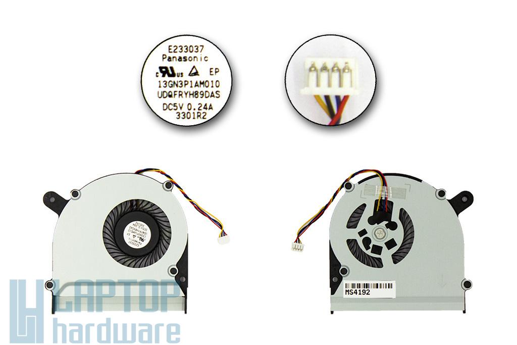 Asus S300C, S300CA gyári új laptop hűtő ventilátor, 4 pines (13GN3P1AM010)
