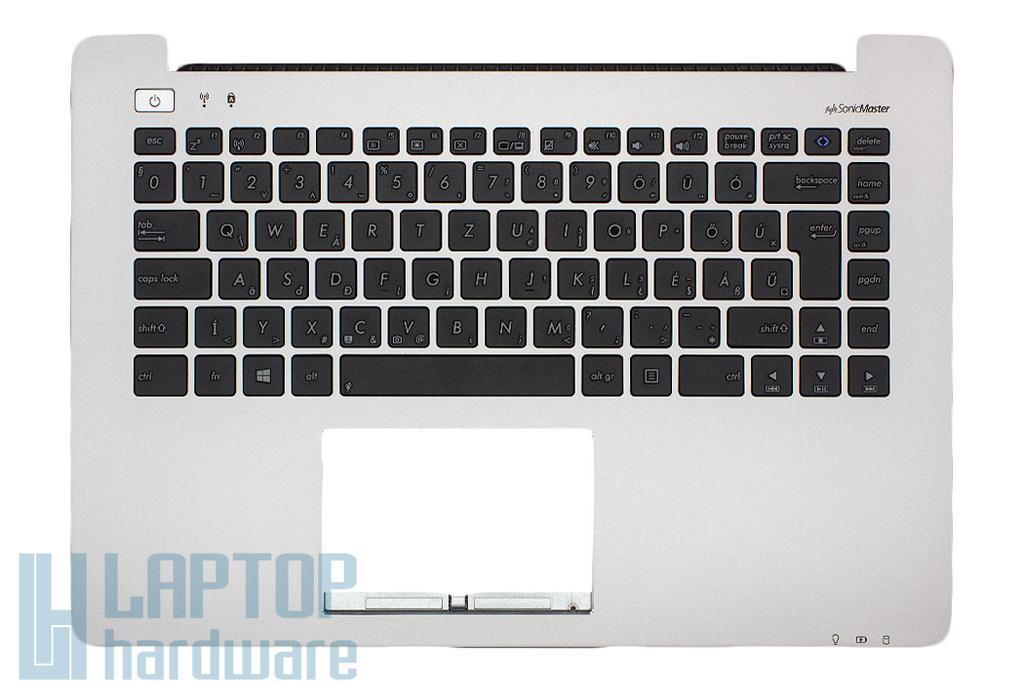 Asus S451LA, S451LB gyári új magyar ezüst laptop billentyűzet modul hangszóróval (90NB02U1-R7A000)