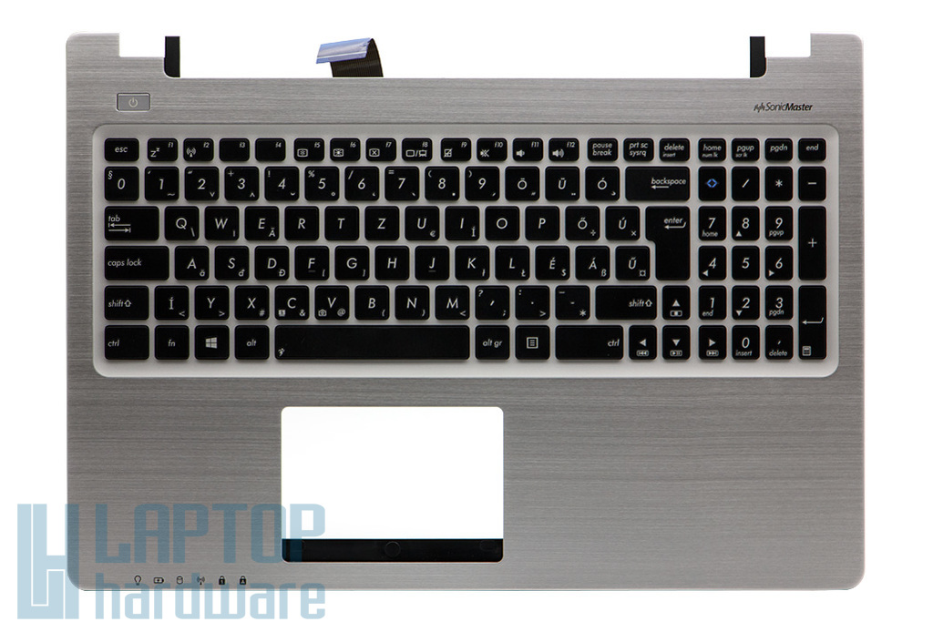 Asus S550 sorozathoz gyári új magyar ezüst-fekete laptop billentyűzet modul (90NB00X1-R3HU00)