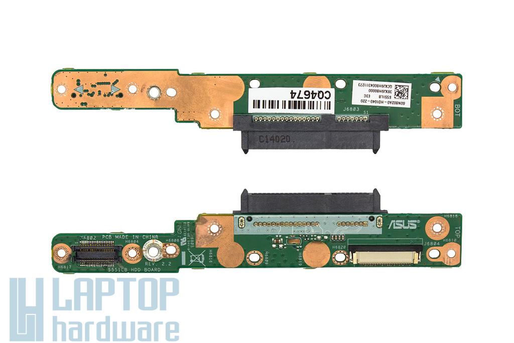 Asus S551LA, S551LB, K551LB használt laptop HDD adapter modul (60NB02A0-HD1040, 38XJ9HB0000)