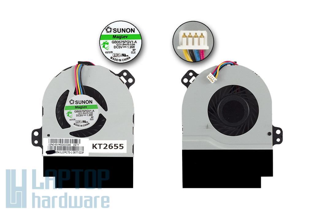 ASUS U50, UX50 gyári laptop hűtő ventilátor (13GNVL10M170-1)