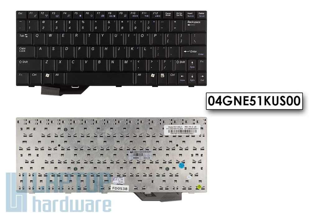Asus U5A, U5F gyári új fekete US angol laptop billentyűzet, 04GNE51KUS00