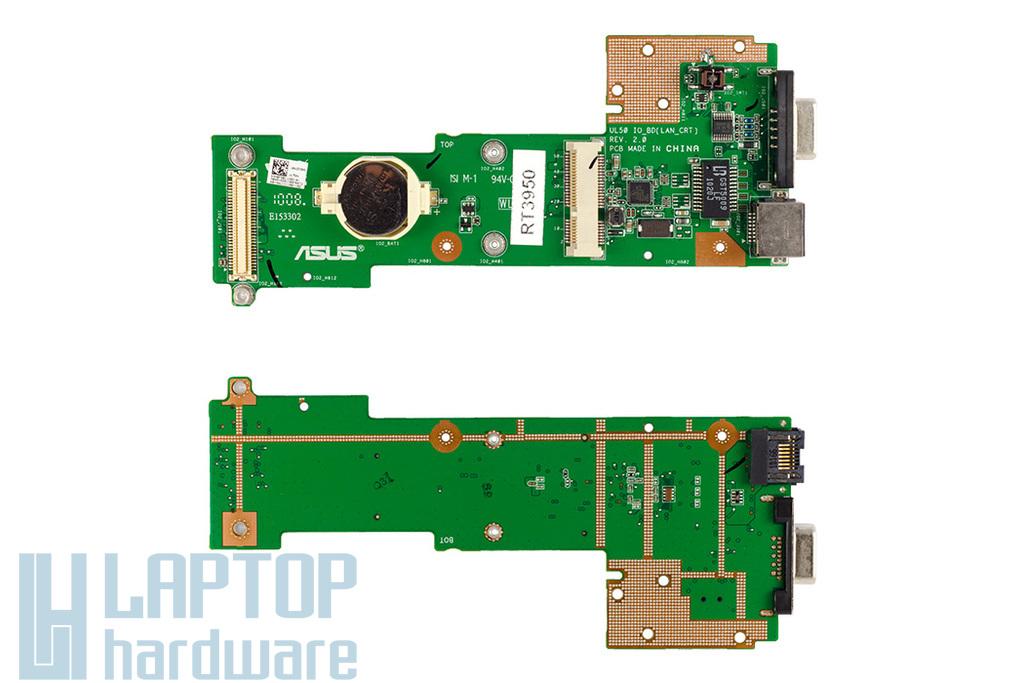 Asus UL50 laptophoz gyári új I/O panel (LAN,VGA), 60-NWUIO1100-C02