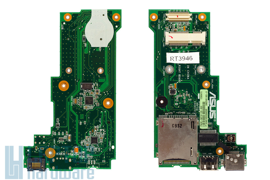 Asus UL80 laptophoz használt jobb oldali I/O panel (USB, LAN, Kártyaolvasó), 60-NX7IO1100-B03