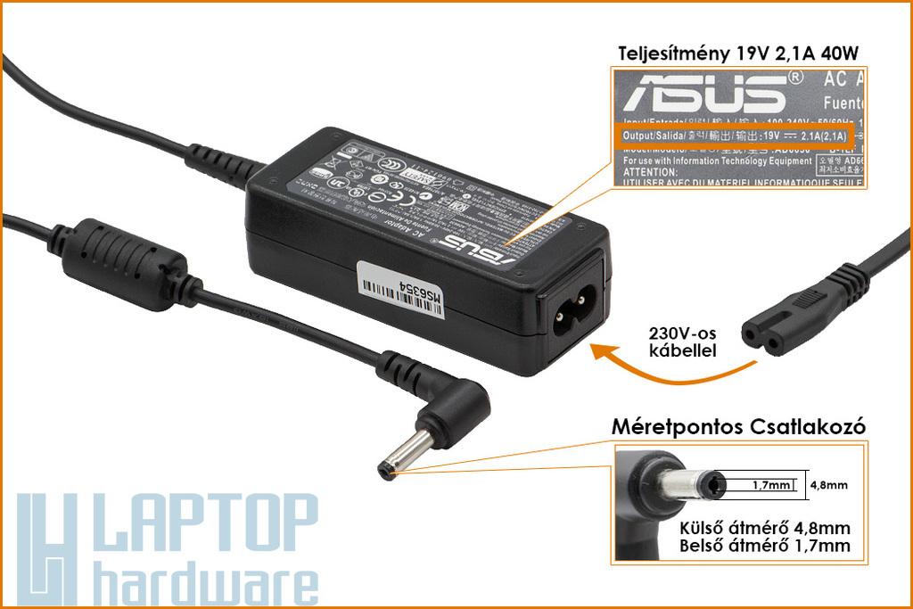 Asus UX30 19V 2.1A 40W gyári új laptop töltő (PA-1400-11)