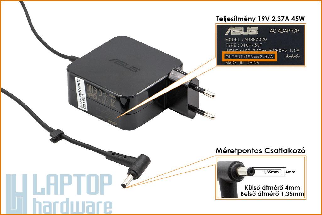 Asus UX305UA, UX310UA, X302UA, X541UA gyári új 19V 2.37A 45W laptop töltő (AD883020, 0A001-00236400)