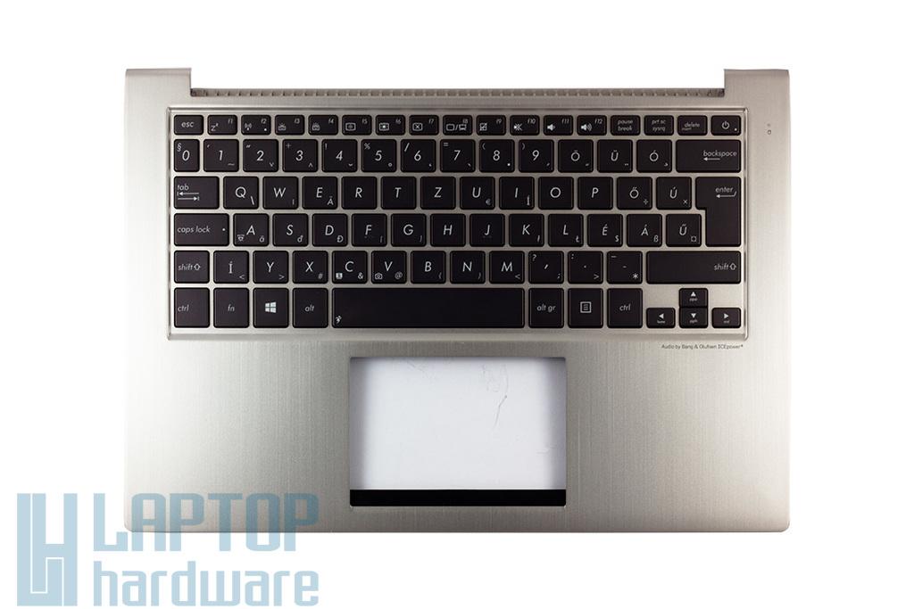 Asus UX32A, UX32VD gyári új magyar ezüst háttér-világításos laptop billentyűzet modul (90R-NPO1K1J80Y)