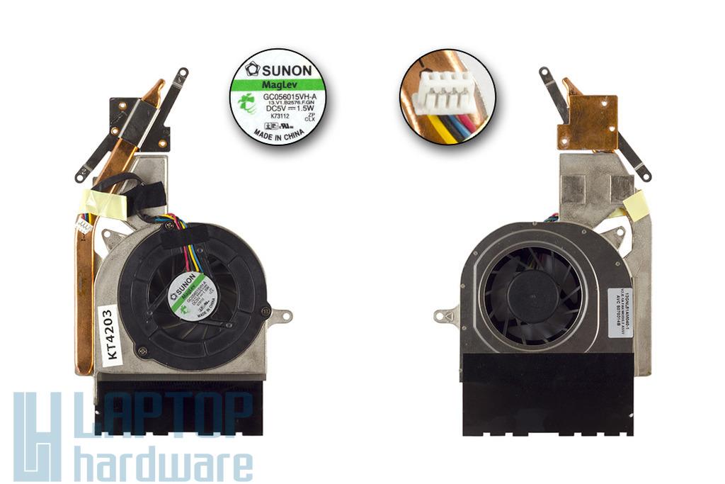 Asus V2S laptophoz használt komplett hűtőventilátor egység, 13GNL51AM040-1