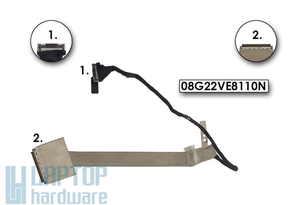 Asus V2S laptophoz használt LCD kijelző kábel, 08G22VE8110N