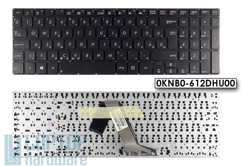 Asus VivoBook S551, V551 gyári új fekete magyar laptop billentyűzet, 0KNB0-612DHU00