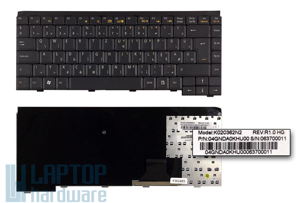 Asus W1, W1JB, W1V gyári új magyar laptop billentyűzet, 04GNDA0KHU00