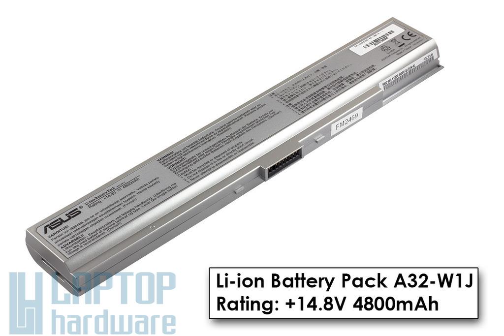 Asus W1000 (W1) gyári új 8 cellás ezüst laptop akku/akkumulátor  A32-W1J, 70R-NDE2B1000T - Akciós