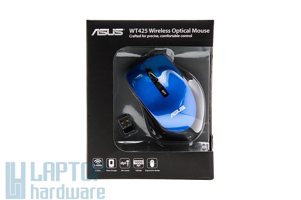 Asus WT425 kék-fekete 1000/1600 DPI optikai vezeték nélküli egér (90XB0280-BMU040)