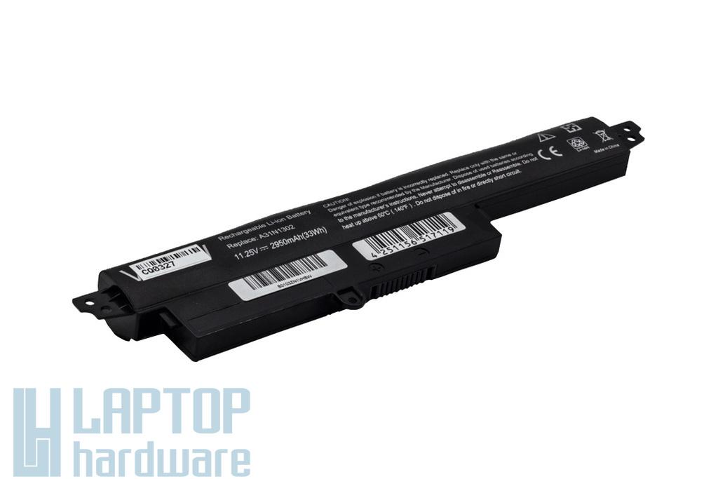 Asus X200CA, X200LA, X200MA helyettesítő új 4 cellás laptop akku/akkumulátor (A31N1302)