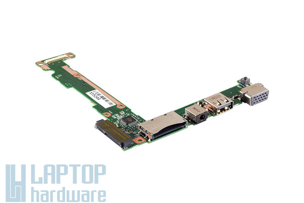Asus X201E gyári új I/O (VGA, USB, audio, kártyaolvasó) panel (90NB00L0-R11000)