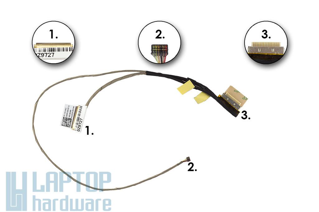Asus X202, X201, S200, gyári új laptop LCD kábel, 14005-00650000