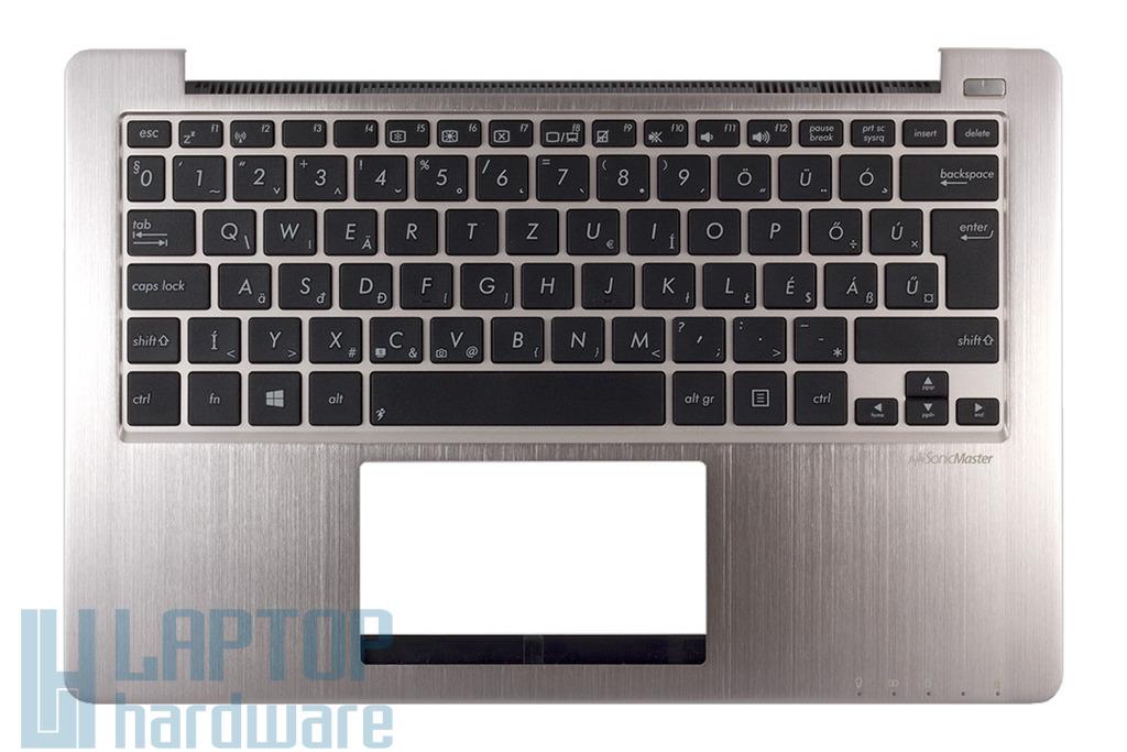 Asus X202E, S200E gyári új magyar laptop billentyűzet modul hangszórókkal, 13NFQ1AM071-1