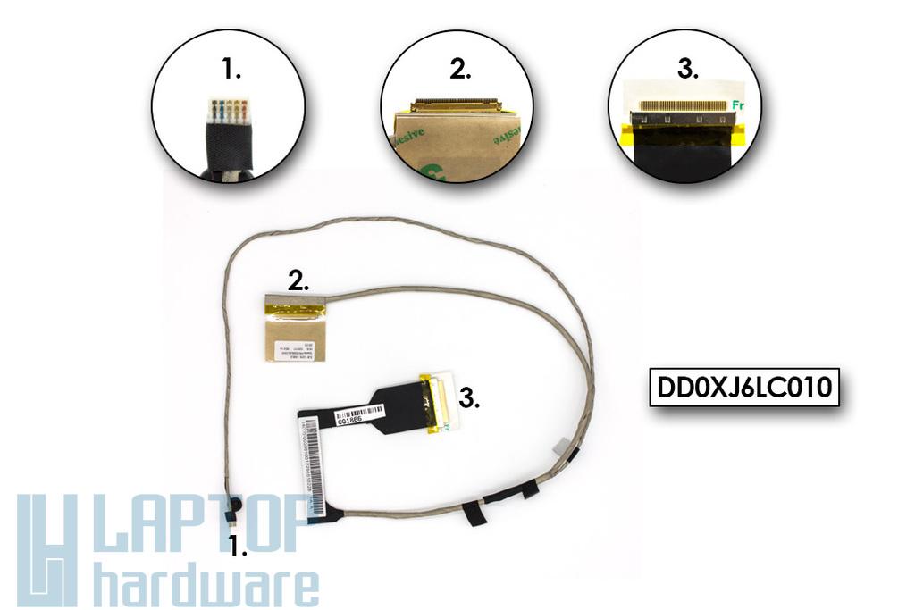Asus X301A gyári új laptop LCD kijelző kábel (14005-00390000, 14005-00390100, DD0XJ6LC000, DD0XJ6LC010)