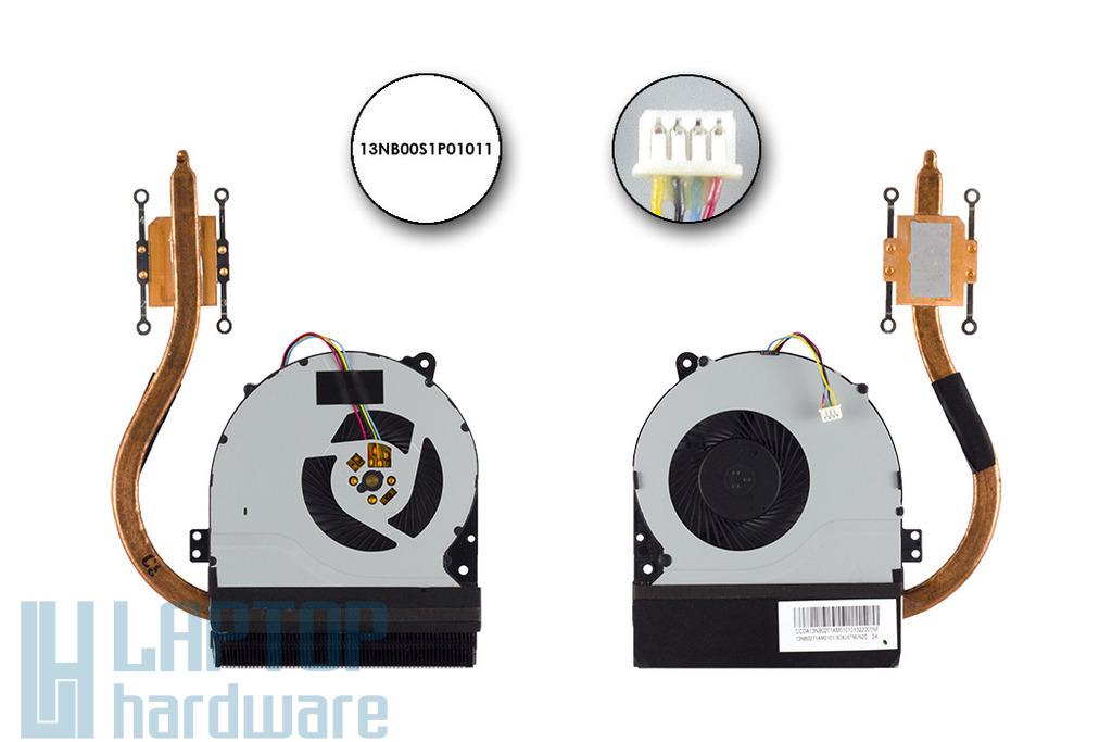 Asus X450, X550 gyári új laptop hűtő ventilátor, 13NB00S1P01011