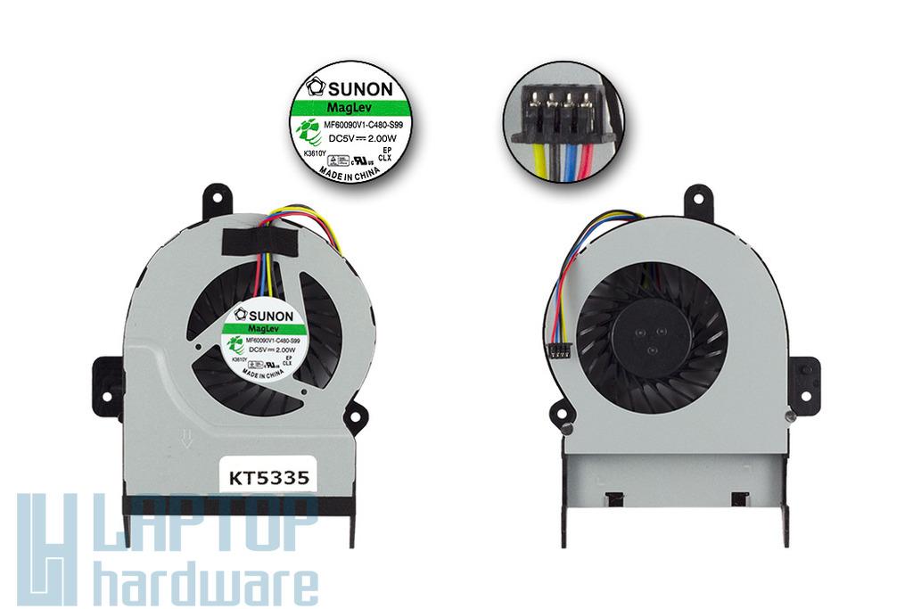 Asus X45C, X55V gyári új laptop hűtő ventilátor (INTEGRÁLT VGA!, 8mm vastag), MF60090V1-C480-S99