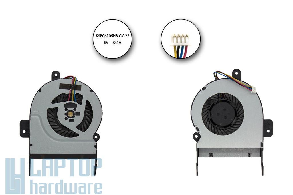 Asus X45C, X55VD gyári új laptop hűtő ventilátor (14mm vastag) (KSB06105HB CC22)