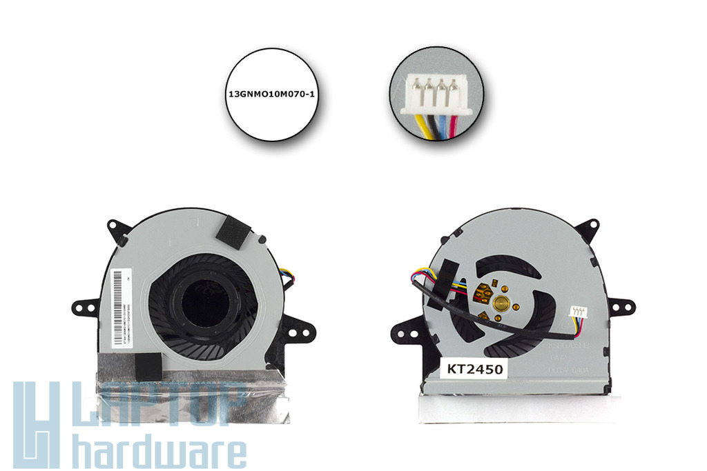 Asus X501U gyári új laptop hűtő ventilátor, 4 pines,(13GNMO10M070-1)