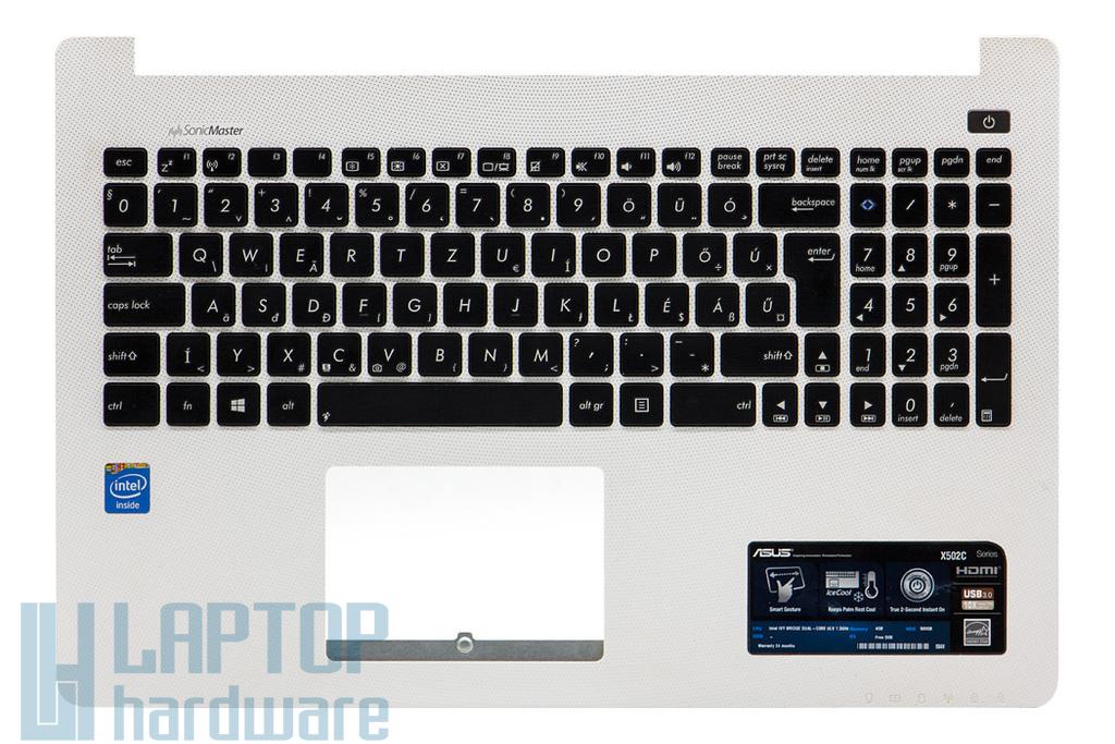 Asus X502CA használt magyar fehér-fekete laptop billentyűzet modul, 90NB00I2-R31HU0