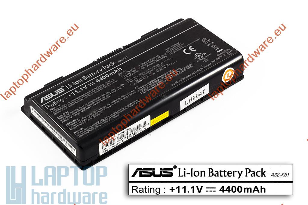 Asus X51, Packard Bell MX35, A32-X51 6 cellás 90%-os használt gyári laptop akku/akkumulátor (A32-X51)