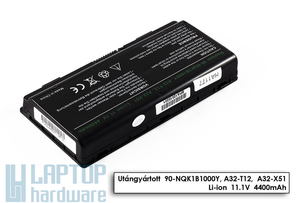 Asus X51, Packard Bell MX35, MX66 6 cellás helyettesítő új laptop akku/akkumulátor (A32-X51, A32-T12)