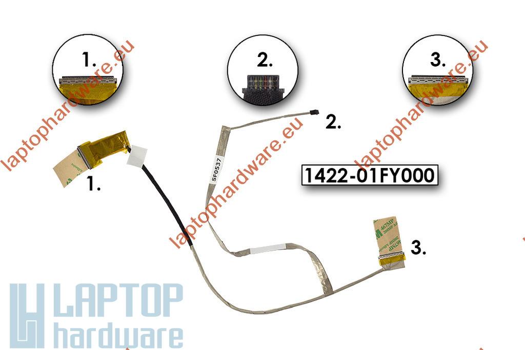 Asus X550CA, X550EA, X550LA használt laptop LCD kábel (1422-01FY000, 1422-01FV000)
