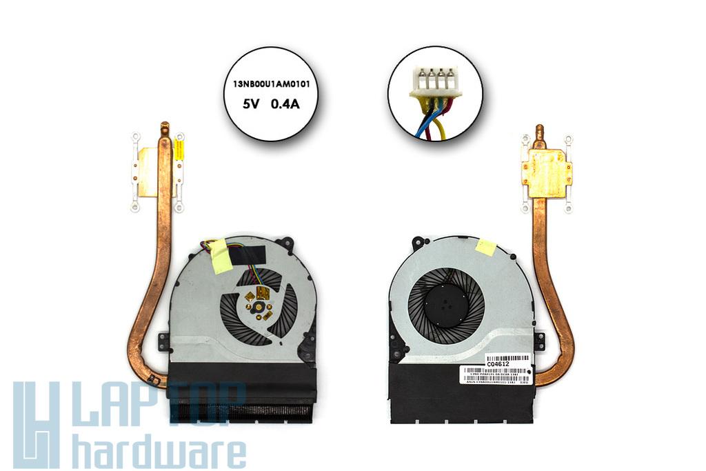 Asus X550CA, F550CA használt komplett laptop hűtés (13NB00U1AM0101, 13N0-PZA0101)