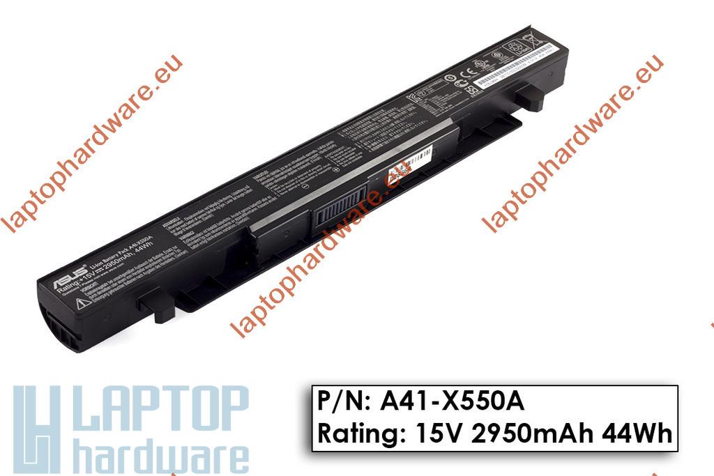 Asus X550CC használt 60%-os 4 cellás gyári laptop akku/akkumulátor  A41-X550, A41-X550A