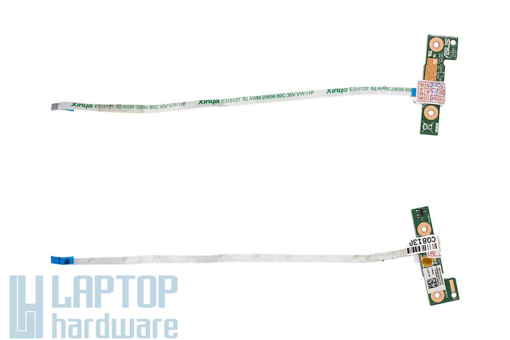Asus X550LA, X550LB, X550LC használt laptop bekapcsoló panel kábellel (60NB02H0-PS1050, 69N0Q9C10D00-01)