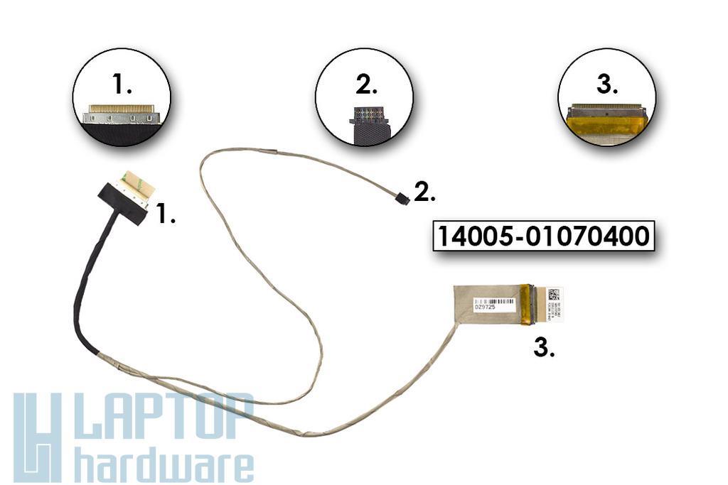 Asus X551 laptop Gyári új LCD kábel (14005-01070400)