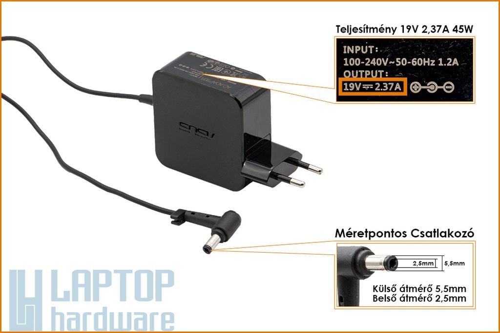 Asus X551CA, X551MA 19V 2.37A 45W használt laptop töltő (PA-1450-55, 0A001-00233600)