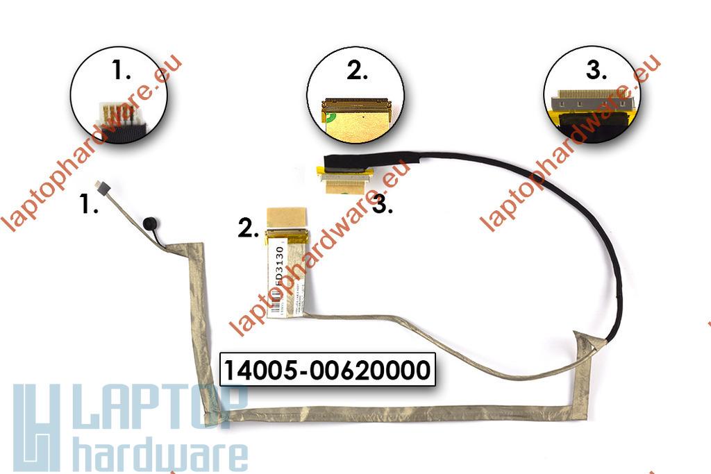 Asus X55A laptop használt LCD kábel, 14005-00620000